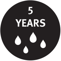 5 Years hydorlysis warranty