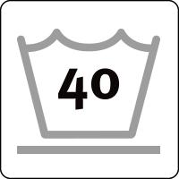 40 ° delicate wash